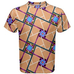 Overlaid Patterns Men s Cotton Tee