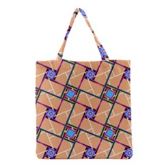 Overlaid Patterns Grocery Tote Bag