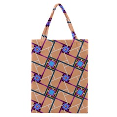 Overlaid Patterns Classic Tote Bag