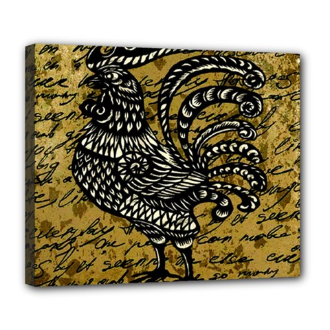 Vintage rooster  Deluxe Canvas 24  x 20