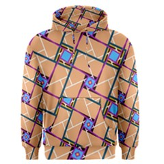 Overlaid Patterns Men s Pullover Hoodie