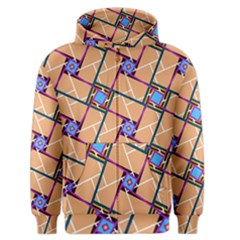 Overlaid Patterns Men s Zipper Hoodie