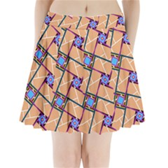 Overlaid Patterns Pleated Mini Skirt