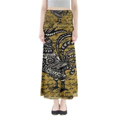 Vintage rooster  Maxi Skirts