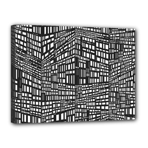 Recursive Subdivision Between 5 Source Lines Screen Black Canvas 16  X 12