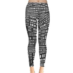 Recursive Subdivision Between 5 Source Lines Screen Black Leggings