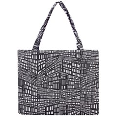 Recursive Subdivision Between 5 Source Lines Screen Black Mini Tote Bag