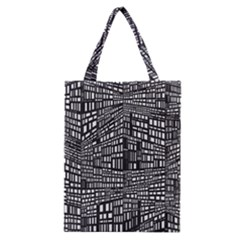 Recursive Subdivision Between 5 Source Lines Screen Black Classic Tote Bag