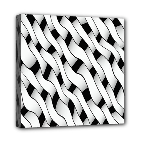 Black And White Pattern Mini Canvas 8  x 8