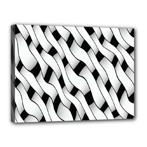 Black And White Pattern Canvas 16  x 12