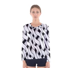 Black And White Pattern Women s Long Sleeve Tee