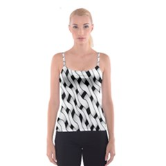 Black And White Pattern Spaghetti Strap Top