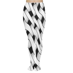Black And White Pattern Women s Tights