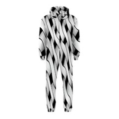 Black And White Pattern Hooded Jumpsuit (Kids)