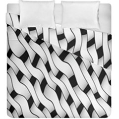 Black And White Pattern Duvet Cover Double Side (king Size)