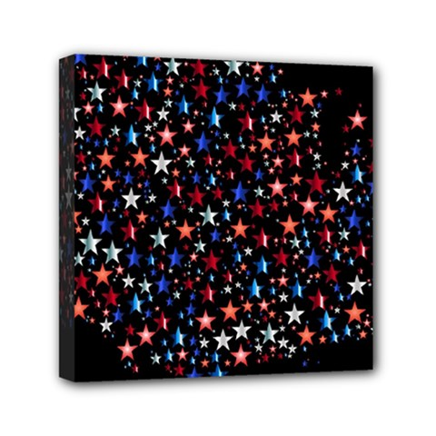 America Usa Map Stars Vector  Mini Canvas 6  x 6