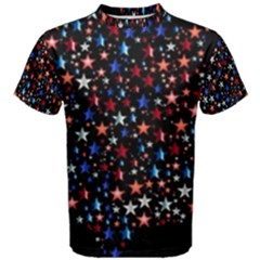 America Usa Map Stars Vector  Men s Cotton Tee
