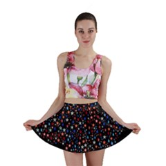America Usa Map Stars Vector  Mini Skirt