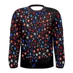 America Usa Map Stars Vector  Men s Long Sleeve Tee