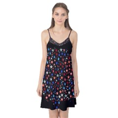 America Usa Map Stars Vector  Camis Nightgown