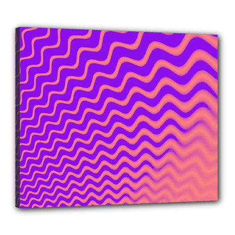 Pink And Purple Canvas 24  X 20