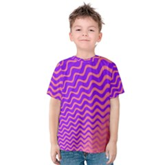 Pink And Purple Kids  Cotton Tee