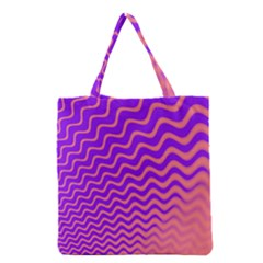 Pink And Purple Grocery Tote Bag