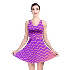 Pink And Purple Reversible Skater Dress