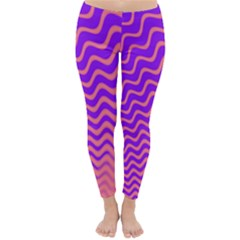 Pink And Purple Classic Winter Leggings