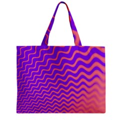Pink And Purple Zipper Mini Tote Bag
