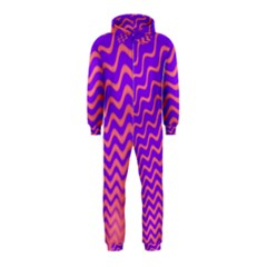 Pink And Purple Hooded Jumpsuit (kids)
