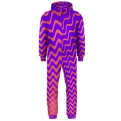 Pink And Purple Hooded Jumpsuit (men)