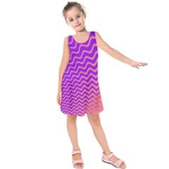 Pink And Purple Kids  Sleeveless Dress