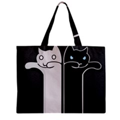 Texture Cats Black White Mini Tote Bag
