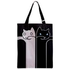 Texture Cats Black White Classic Tote Bag