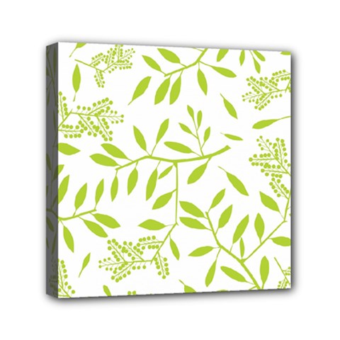 Leaves Pattern Seamless Mini Canvas 6  x 6