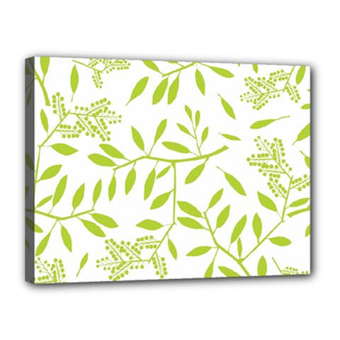 Leaves Pattern Seamless Canvas 16  x 12