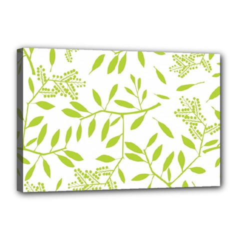 Leaves Pattern Seamless Canvas 18  X 12