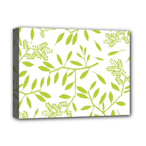 Leaves Pattern Seamless Deluxe Canvas 16  x 12
