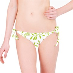 Leaves Pattern Seamless Bikini Bottom