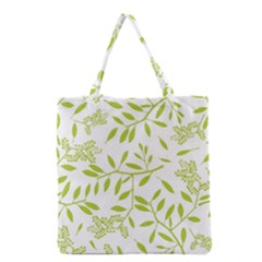 Leaves Pattern Seamless Grocery Tote Bag