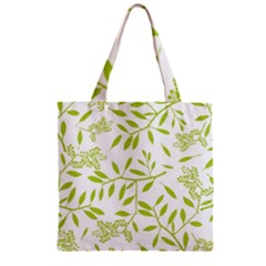 Leaves Pattern Seamless Zipper Grocery Tote Bag