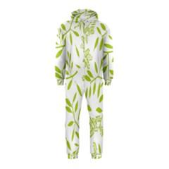 Leaves Pattern Seamless Hooded Jumpsuit (kids)