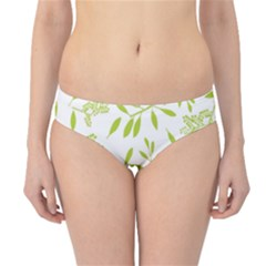 Leaves Pattern Seamless Hipster Bikini Bottoms