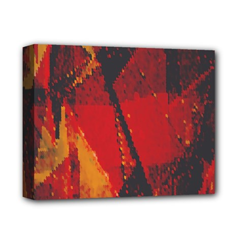 Surface Line Pattern Red Deluxe Canvas 14  x 11