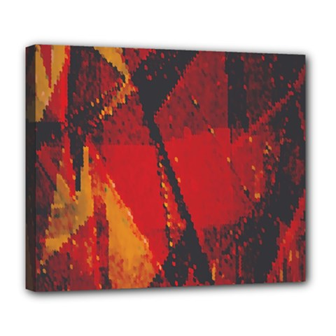 Surface Line Pattern Red Deluxe Canvas 24  x 20