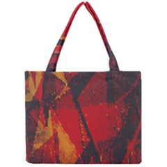 Surface Line Pattern Red Mini Tote Bag