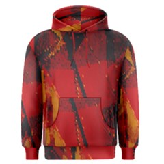 Surface Line Pattern Red Men s Pullover Hoodie