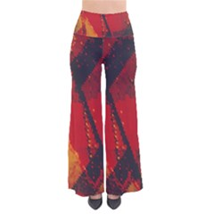 Surface Line Pattern Red Pants