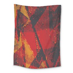 Surface Line Pattern Red Medium Tapestry